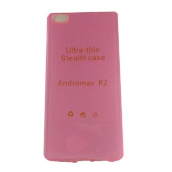 Harga Ultrathin Case For Andromax R2 UltraFit Air Case / Jelly case / Soft Case – Pink
