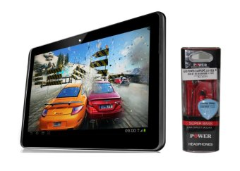 Harga ALDO Tablet T33 - Hitam + Earphone Merah