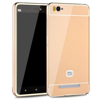 Harga Casing Aluminium Bumper Mirror for Xiaomi Mi 4i / 4c - Gold