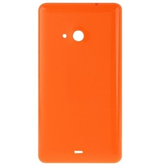 Harga Smooth Surface Plastic Back Housing Cover Replacement for Microsoft Lumia 535(Orange)