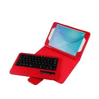 YBC New Wireless Bluetooth 8.0 inch Keyboard + PU Leather Stand Cover Case For Samsung GALAXY