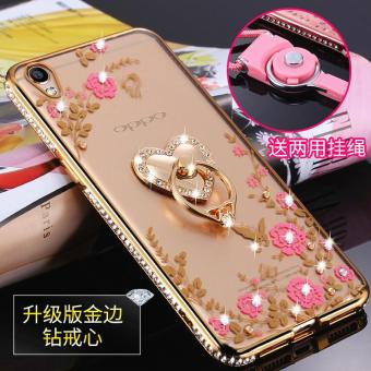 For OPPO A37 Case Luxury 3D Soft Plastic Case Coque For A37M Silicon Glitter Rhinestone Cover