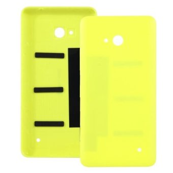 Harga IPartsBuy For Microsoft Lumia 640 Frosted Surface Plastic Back Housing Cover(Yellow) - intl