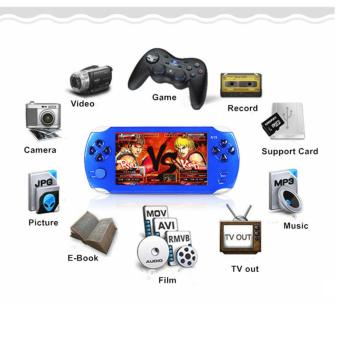 Harga 5.1-Inch 8G PSP Game Player 10000 Free Games Handheld GBA Consoles = MP3/MP4/MP5/FM/Camera (Blue) - intl