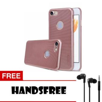 Case Nillkin For iPhone 7 Super Frosted Shield Hard Case - Rose + Free Hansfree