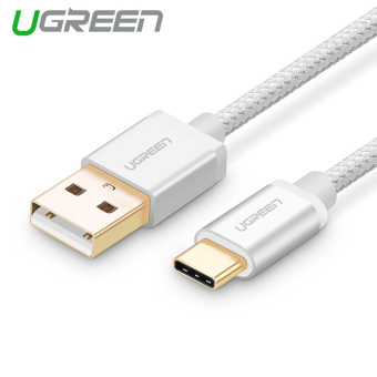 Harga UGREEN 1.5m USB Type C Data Sync and Charger Cable Aluminium Case Braid Design (Silver)