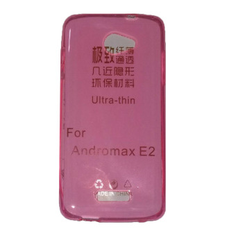 Harga Ultrathin Case For Andromax E2 UltraFit Air Case / Jelly case / Soft Case - Pink