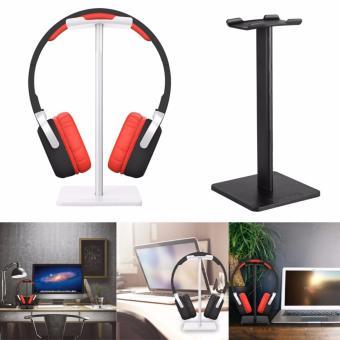 Keunggulan telepon kepala berdiri/mode tampilan untuk Headphone/Headset dan braket (hitam)