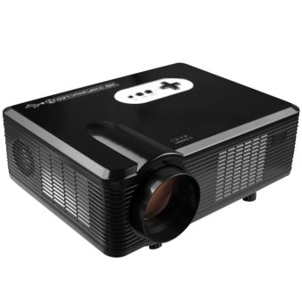 Harga CL720 Super Bright 3000 Lumens 1280 x 800 Pixels LED Projector with Analog TV Interface for Home Entertainment - AU Plug (Black) - Intl
