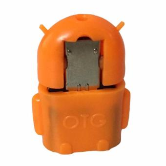 Harga OTG Adapter Micro USB Robot - Orange