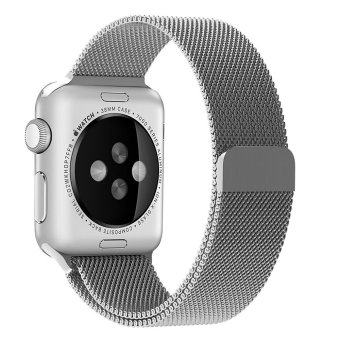 Harga Penom 42mm Stainless Steel Mesh Loop Milanese Band with Magnetic Clasp for Apple iWatch Sports Edition - Silver - intl