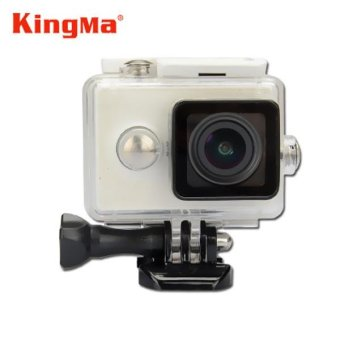 Harga Kingma Original Xiaomi Yi Camera Waterproof Case, Mi Yi 40M Diving Sports Waterproof Box, Yi Action Camera aksesoris Accessories (White) - intl
