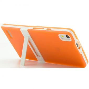 Harga Soft TPU Stand Phone Cover Case for Huawei Ascend P6 Orange intl .