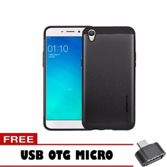 Case Slim Armor For Oppo Neo 9 A37 Series - Hitam + Free Usb Otg Micro
