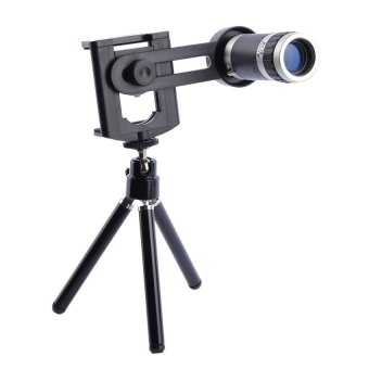 Harga CCC 8x Lens Zoom Telescope with Mini Tripod Universal Lensa for Mobile Phone