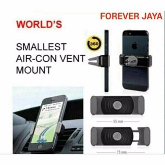 Harga CAR HP HOLDER PEGANGAN HP (WORLD SMALLEST AIR-CON VENT HP HOLDER MOBIL) BUAT IPHONE 5 SAMSUNG NOKIA