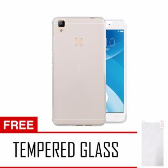 Harga Softcase Vivo V3 Max Ultrathin Aircase - Putih + Tempered Glass