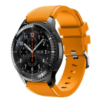 Harga Soft Sports Silicone Watch Strap Replacement for Samsung Gear S3 Frontier / S3 Classic - Orange - intl