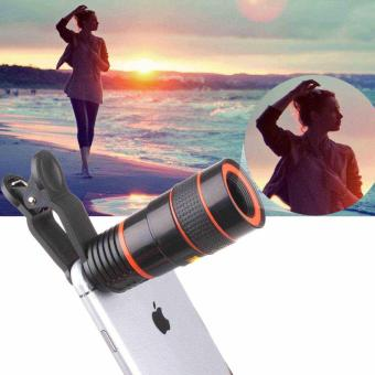 Harga Clip-on 8x Optical Zoom HD Telescope Camera Lens For Universal Mobile Phone - intl