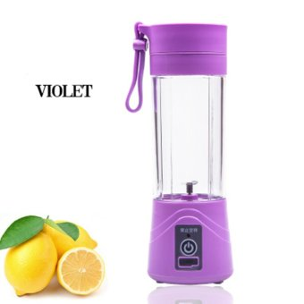 Harga LCFU764 Mini Rechargeable Portable Electric Fruit Juicer Cup Personal Sports Juice Blender With USB Charging Cable-purple - intl