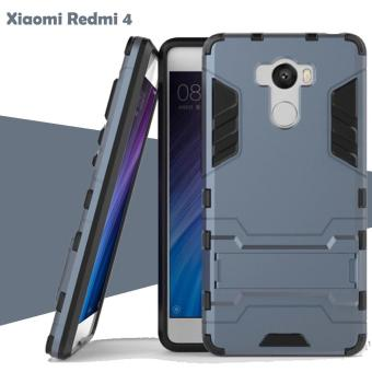 Case Iron Man for Xiaomi Redmi 4 Robot Transformer Ironman Limited - Biru Dongker