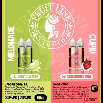 Harga Liquid Premium Fruit Line Cupid Strawberry Milk 60 ML 3 MG