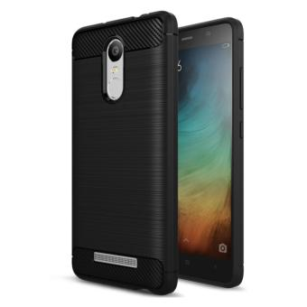 Harga iCase Carbon Shockproof Hybrid Case for Xiaomi Redmi Note 3 - Hitam