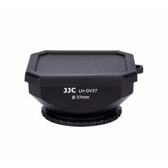 Harga JJC 37mm Square Screw-in DV Camcorder Lens Hood + Cap + Strap for SONY JVC CANON - intl