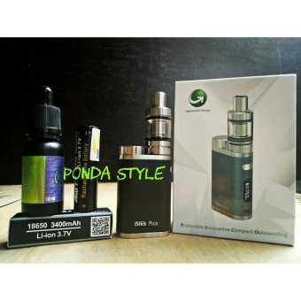Harga Istick Pico (without cell) starter kit 75W Free + Batrai AMT 3400mAh Li-ion 3,7V + Liquid Blue Ocean 20ml varian rasa