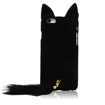 Harga Vococal Fluffy Tail Cat Style Protective Case for iPhone 6/ 6s 4.7 Inches (Black)