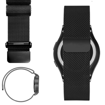 Harga Milanese Loop Strap Stainless Steel Watch Band for Samsung Gear S2 Classic SM-R732 (Black)