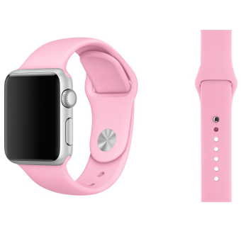 Silikon lembut perhiasan Band tali pengikat dengan konektor adaptor untuk Apple Watch iWatch .