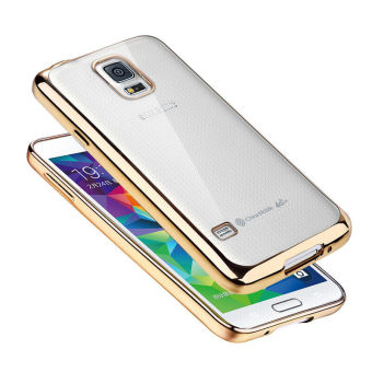 TPU Silicone Phone Case for Samsung Galaxy S5 i9600 (Gold)