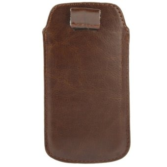 Harga Crazy Horse Texture Leather Case Pocket Pouch Sleeve Bag Case for iPhone 5/5S/5C (Brown)