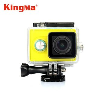Harga Kingma Original Xiaomi Yi Camera Waterproof Case, Mi Yi 40M Diving Sports Waterproof Box, Yi Action Camera aksesoris Accessories (Black) - intl