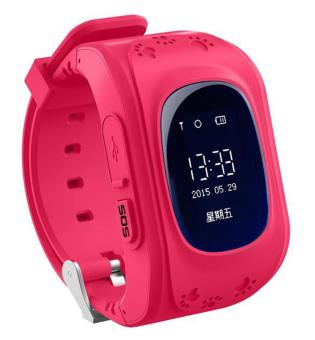Harga niceEshop Kids Safe GPS/GSM Watch Wristwatch SOS Call Anti Lost Smartwatch For Kids, Red