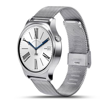 BLN GW01 Smart Watch Bluetooth 4.0 SmartWatch Heart Rate Monitor For Android 4.3 iOS 7 IPS Round Screen Life Water Resistant (Silver/Metal) - intl