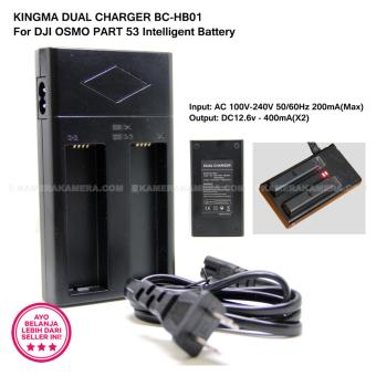Harga KINGMA DUAL BATTERY CHARGER DOUBLE CHARGER BC-HB01 for DJI OSMO PART7, DJI Osmo Handheld 4K Camera Gimbal Intelligent Battery