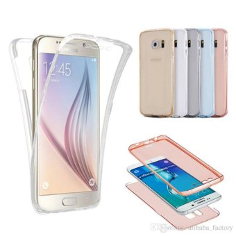 Harga Softcase Silicone 360 Full Body Softshell Depan Belakang Samsung S7 Edge (Clear)
