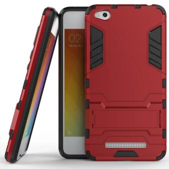 Harga iCase for Xiaomi Redmi 4a Iron Man Rugged Slim Armor Case with KickStand - Merah