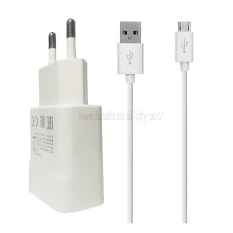 Harga City Acc Travel Charger 2.1A for Samsung - White