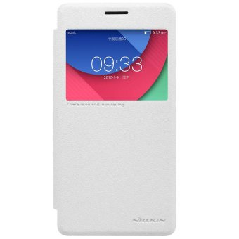 Harga Nillkin Sparkle Leather Case / Flip Case Cover Original Lenovo Vibe P1 Turbo - Putih