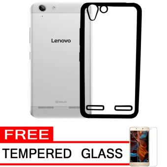Softcase Silicon Jelly Case List Shining Chrome for Lenovo Vibe K5 - Black + Free Tempered