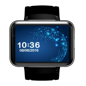 BLN DM98 Smart Watch Android 5.1 with AL6063 Aloy Case Big Battery 900mAh Standby Standby 12days GPS WIFI Video Call Function (Black) - intl