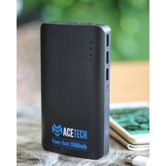Harga ACETECH Power Bank Premium 20000mAh Triple Port USB Hitam