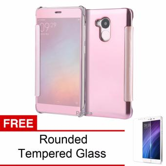 Harga Peonia Mirror Flip Cover Case for Xiaomi Redmi 4s / Prime / Pro - Rose
