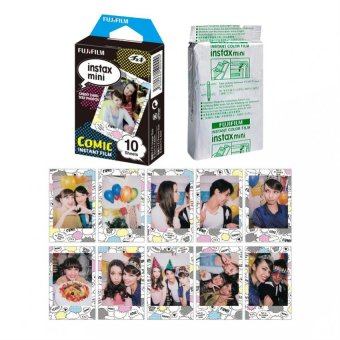 Harga Fujifilm Instax Mini Comic Instant 10 Film for Fuji 7s 8 25 50s 70 90/ Polaroid 300 Instant Camera/ Share SP-1