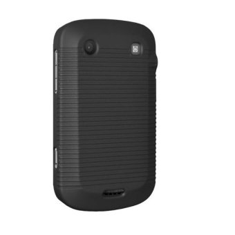 Harga XCase Blackberry 9900/9930 Slim Rubberized Case with Clip Belt-Hitam
