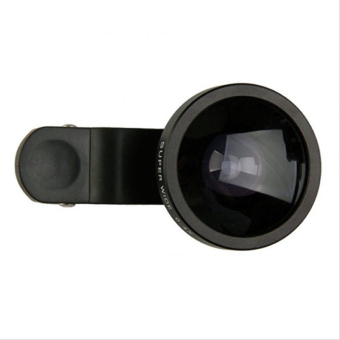 Harga Lensa Quality Universal Clip Lens Super Wide 0.4x - 235 Degree - For Universal Smartphone - Hitam
