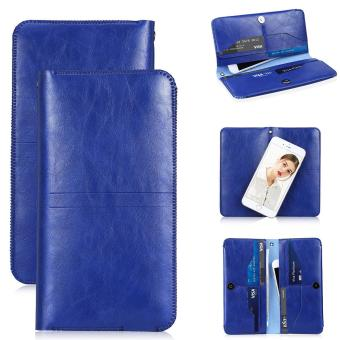 Excelvan Folio PU Leather Wallet Case for iPhone 6 Plus/6S Plus/7 Plus 5.5 inch(Blue) - intl
